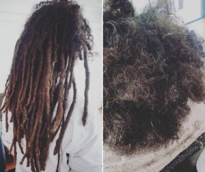 Melbourne dreadlocks removal before after