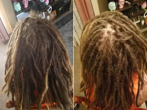 Dreadlocks maintenance Melbourne by Richard before after