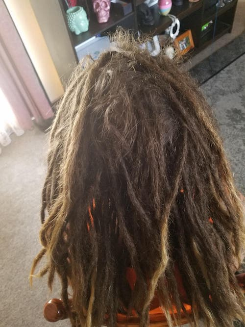 Dreadlocks maintenance Melbourne by Richard before