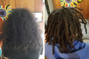 dreadlocks installation before after