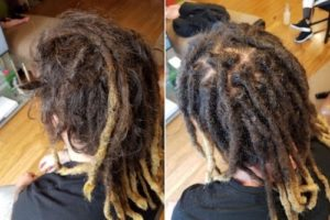 dreads maintenance before after