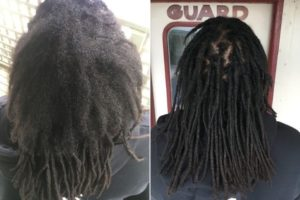 afro hair maintenance Melbourne before after
