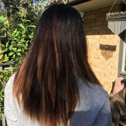 Starting dreadlocks half head long hair