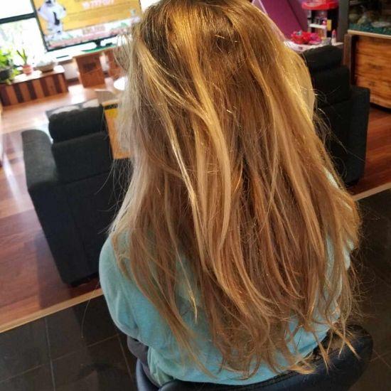 Dread creation long hair Melbourne before