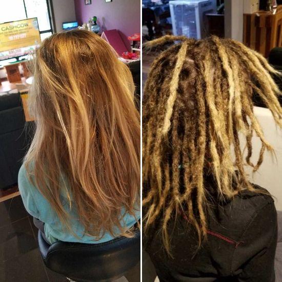 Dread creation long hair Melbourne