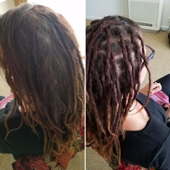 Dread maintenance on long hair Melbourne