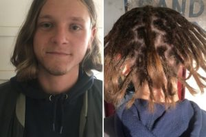 Dreads creation above shoulders