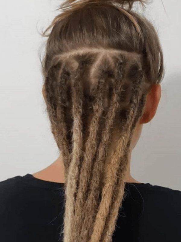 Melbourne dreadlocks half head dread extensions underneath