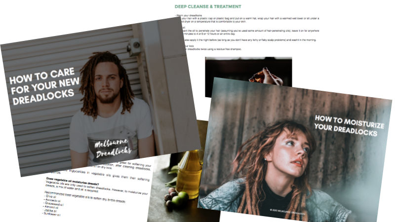 Free guide for your new dreadlocks