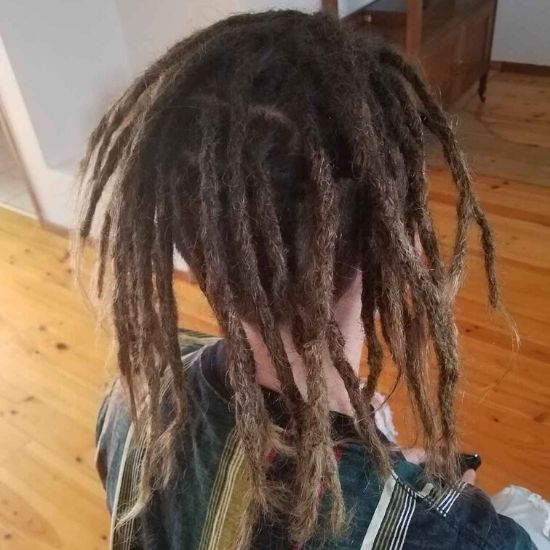 dread creation long hair melbourne after