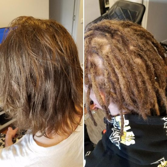 dread creation short hair melbourne